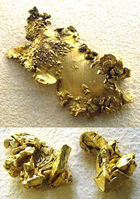 Pépites d'or