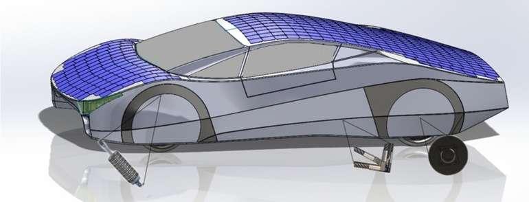 L'Immortus est avant tout une plateforme technologique dont plusieurs innovations pourraient, d'après EVX, être réutilisées dans l'industrie automobile. C'est le cas notamment des amortisseurs à récupération d'énergie ou du bloc moteur électrique-transmission intégré au porte-fusée de la roue. © EVX