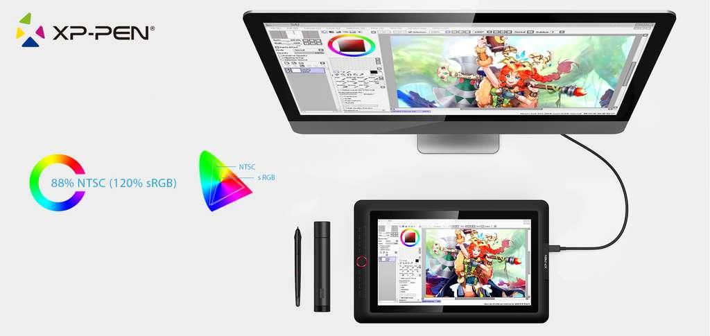 Avec des fonctions dignes des modèles pros et un prix contenu, l'Artist 15.6 Pro est un bon modèle pour débuter et surtout persévérer dans l'art du dessin numérique. © XP-Pen