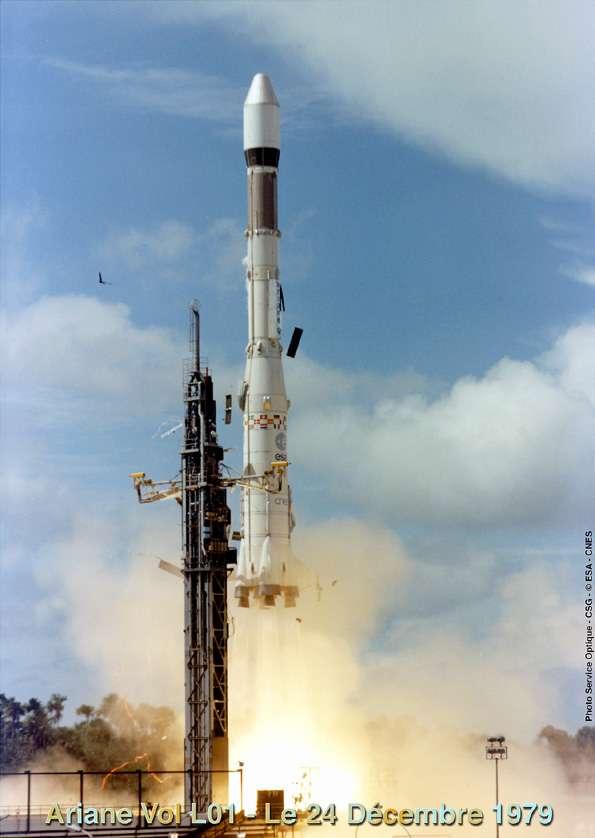 Le décollage d'Ariane 1