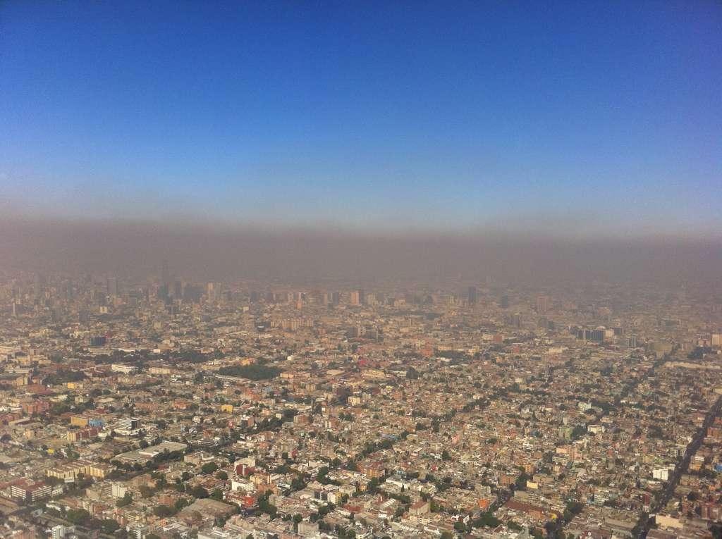 Le smog de Mexico est quasiment permanent. Souvent considérée comme la capitale la plus polluée au monde, Mexico est devenue une bonne élève sur les questions de gestion de l'environnement. Grâce à l'installation du Metrobús et d'Ecobici (l'équivalent du Vélib'), la pollution atmosphérique a été nettement réduite. © Fidel Gonzales, cc by sa 3.0