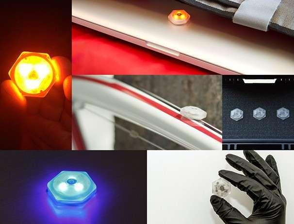 La balise Sensor-1 peut servir à sécuriser des biens mais aussi des lieux en pilotant des appareils domotiques. © Metasensor