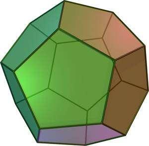 Le dodécaèdre ? Il a 12 faces pentagonales. Pas terrible pour rouler. © Commons