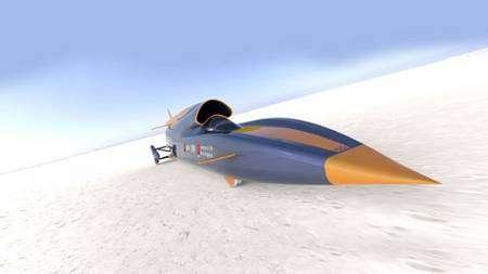 La Bloodhound SSC, telle que les ingénieurs l'imaginent aujourd'hui. © U. de Leeds/Instrumentel