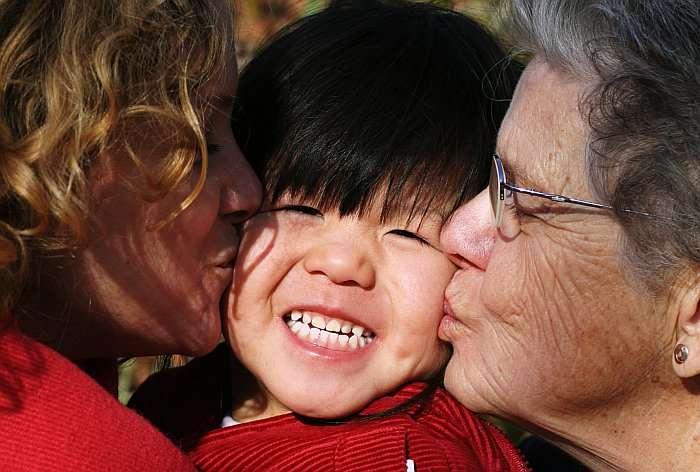 La cohabitation intergénérationnelle s'est beaucoup développée en 2011. © David Sky, CC by nc sa