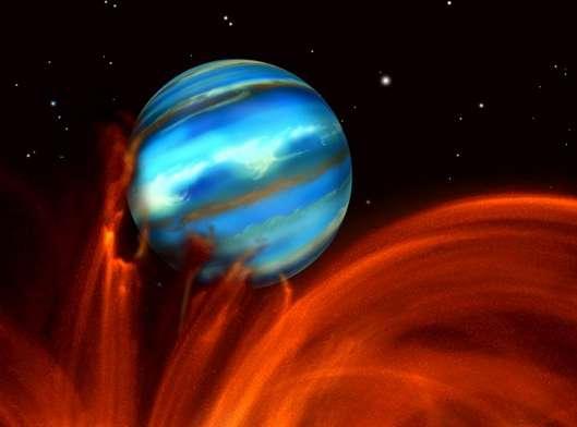 L'exoplanète TrES-1 et son étoile