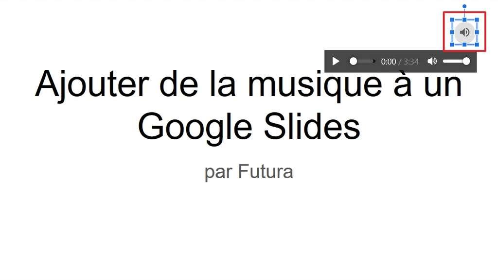 Placez l'icône où vous le souhaitez, puis modifiez sa taille si nécessaire. © Google Inc.