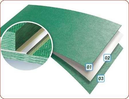 Écran (Term'X) constitué d'un matelas de fibres synthétiques revêtu recto-verso d'un parement respirant. Rouleau de 1,20 x 21 m (environ) correspondant à 25 m2 de surface couverte. © Siplast