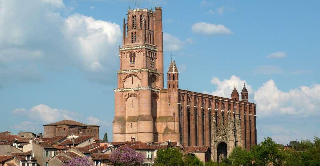 Cathédrale Sainte-Cécile d'Albi construite en brique. © ByacC, Wikimedia commons, DP