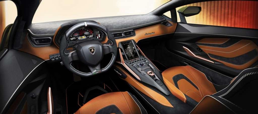 L'intérieur de la Lamborghini Sián sera entièrement personnalisable. © Lamborghini