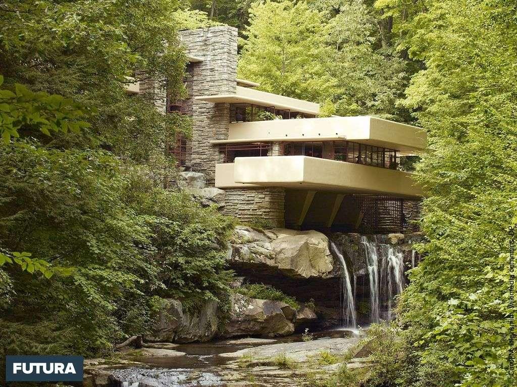 Maison de la Cascade Pennsylvanie, États-Unis. Architecte Frank Lloyd Wright.
