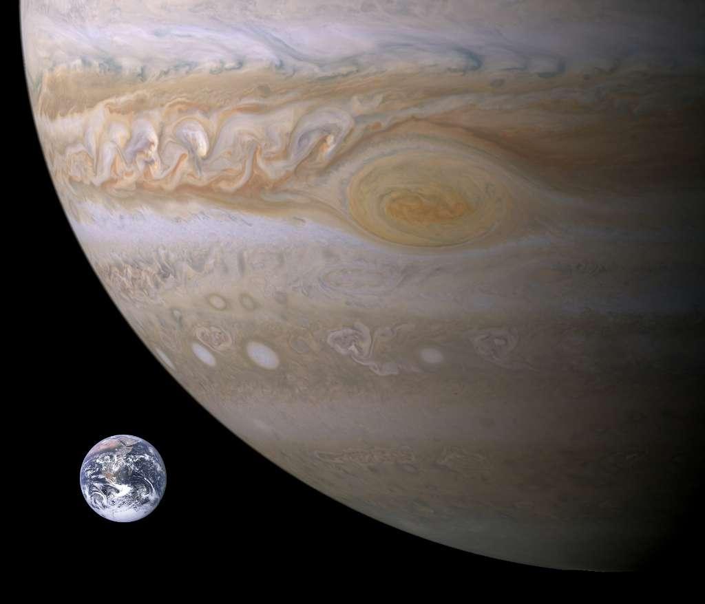Jupiter, la planète gazeuse géante de notre Système solaire, sera le 1er décembre à 609 millions de km de nous. © Nasa