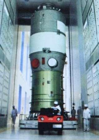 D'une masse de 8,5 tonnes, le module Tiangong-1 sera lancé cette semaine. © SinoDefense.com