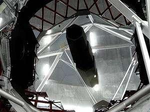 La surface collectrice du Grand Télescope des Canaries est conçue selon un assemblage optique comparable à celui qui a été choisi pour l'EELT. Crédit J.-B. Feldmann