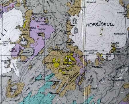 Cartes géologique et tectonique de Kerlingarfjöll. © DR
