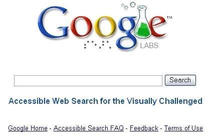 Google Accessible Search : un moteur de recherche qui s'adresse aux malvoyants (Crédits : Google Inc)