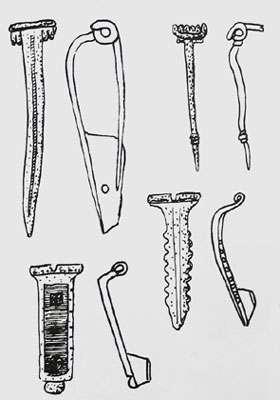 Fibules gallo-romaines de Cutry, en Meurthe-et-Moselle.
