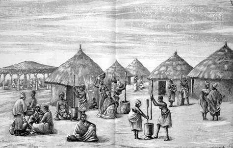 L'horrible danse du pilon - Côte occidentale d'Afrique. © Colonel Frey 1890