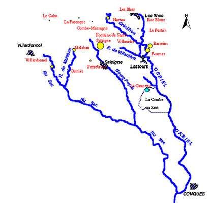 Salsignes, anciennes mines vallée de l'Orbiel.