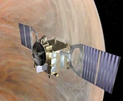 Vénus Express a rejoint son orbite de travail Hélas, le miroir de l'un de ses instruments refuse de pivoter... ( Crédits : ESA)