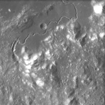La Lune photographiée par AMIE : Rima Hadley (crédit : ESA/Space-X, Space Exploration Institute)
