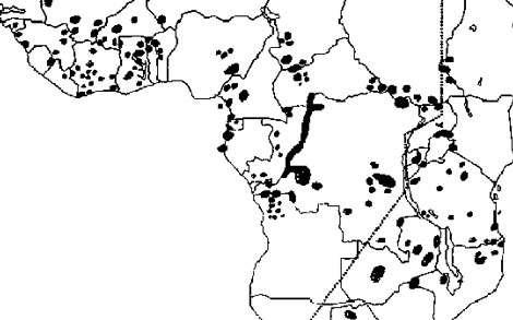 Principaux foyers de maladie du sommeil en Afrique Reproduction et utilisation interdites