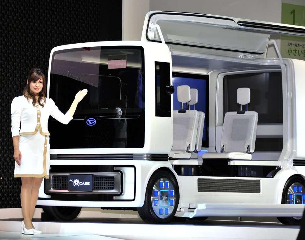 La FC Sho Case de Daihatsu. FC pour fuel cell, c'est-à-dire pile à combustible. Cette spacieuse limousine consomme donc de l'hydrogène. © AFP Photo / Yoshikazu Tsuno