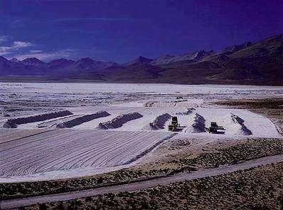 Des sables riches en Bore en Californie (Crédit : Argonne National Laboratory).
