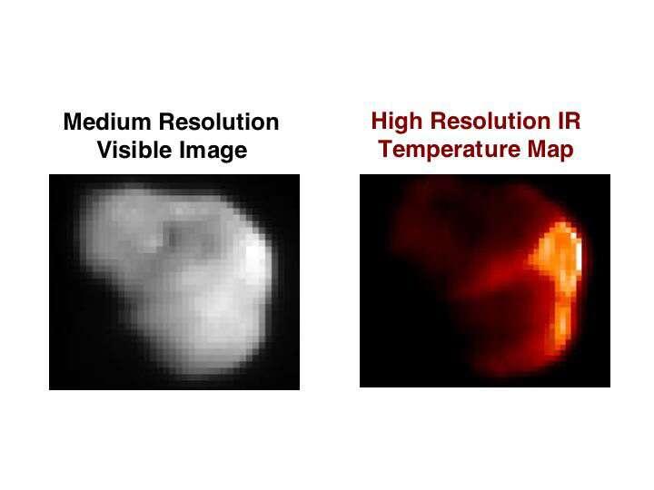Tempel 1 en infrarouge