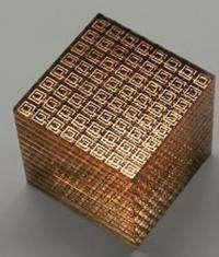 Les méta-matériaux ont un singulier pouvoir sur la lumière En particulier, ils peuvent bénéficier d'un indice de réfraction négatif (Crédits : Nonlinear Physics Centre )