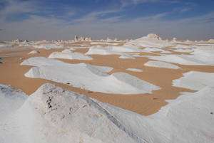 Désert blanc, Égypte. © François Michel