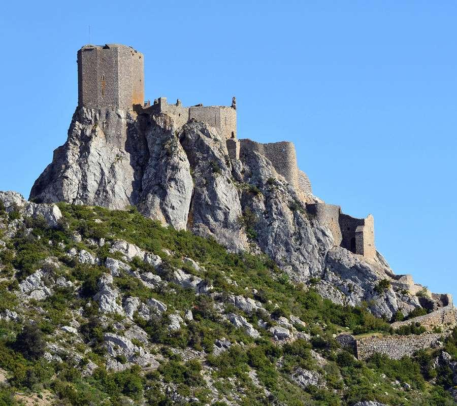 Le château de Quéribus se situe dans l'Aude, tout près du département des Pyrénées-Orientales. © BlueBreeze, Wikimedia Commons, CC by-sa 3.0