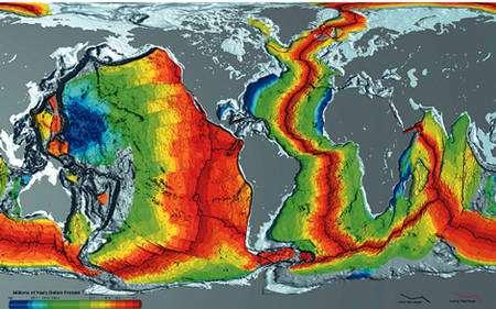 Figure 17 : Carte de l'âge des océan