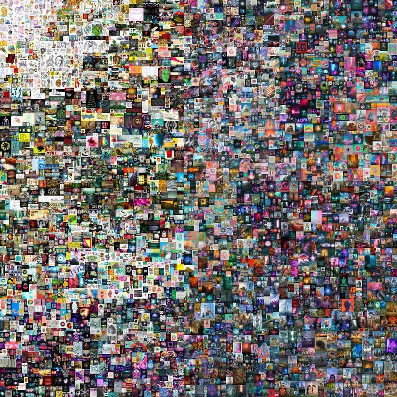 Ce montage de 5.000 vignettes, qui représentent 5.000 jours, s'est vendu 69 millions de dollars. © Beeple