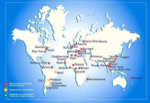 Le Réseau international des instituts Pasteur s'étend sur les cinq continents, notamment pour surveiller l'évolution des virus grippaux. © Institut Pasteur
