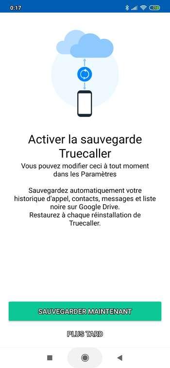 Vous pouvez sauvegarder vos données sur Google Drive. © True Software Scandinavia AB