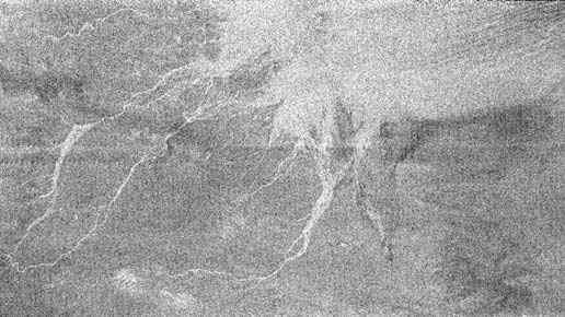 Image radar d'un terrain similaire au site d'atterrissage de Huygens