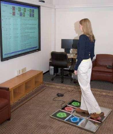 StepUI, ou comment consulter ses courriels avec ses pieds ! (Crédits : Microsoft)