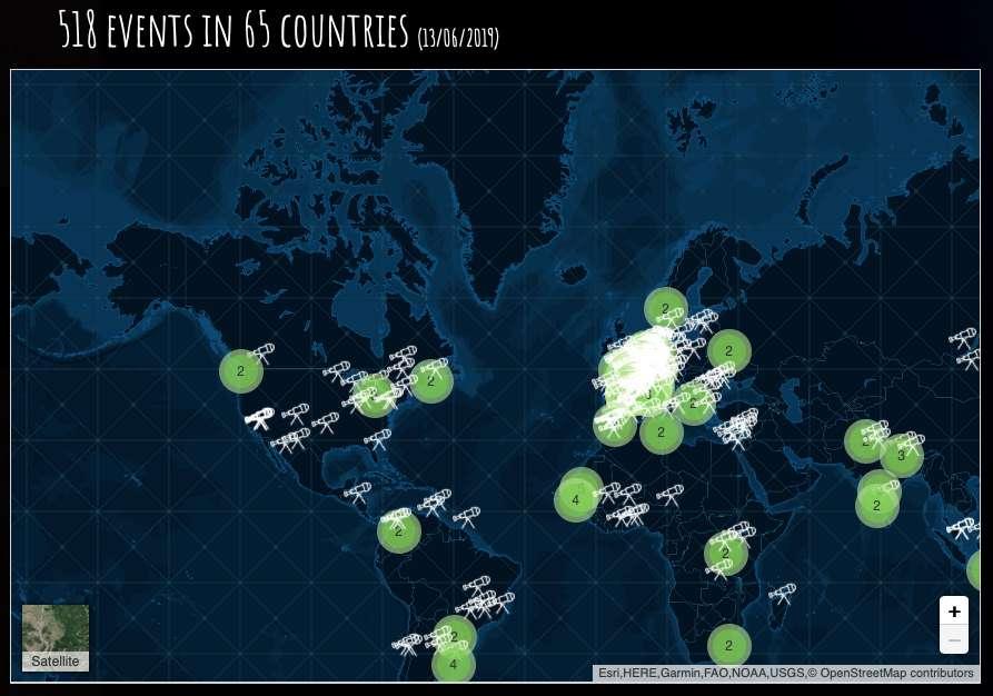 L'événement mondial « On the moon again » se tiendra dans plus de 500 lieux répartis dans au moins 65 pays du globe. © onthemoonagain.org