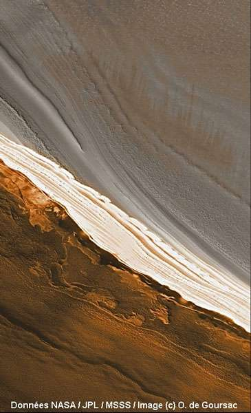 Segment de la calotte polaire nord de Mars