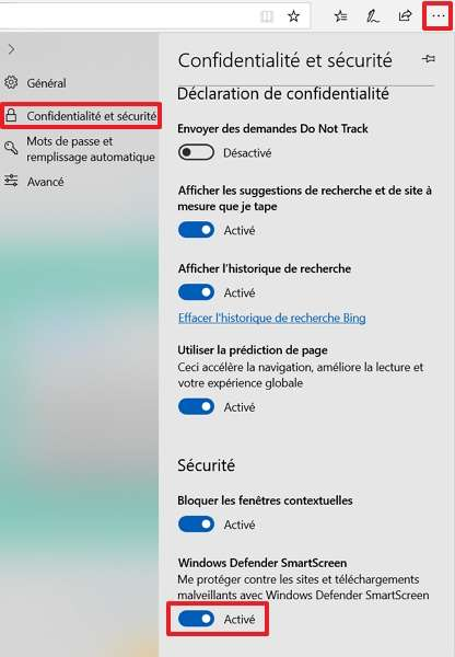 Windows Defender SmartScreen assure votre protection contre les sites et téléchargements malveillants. © Microsoft