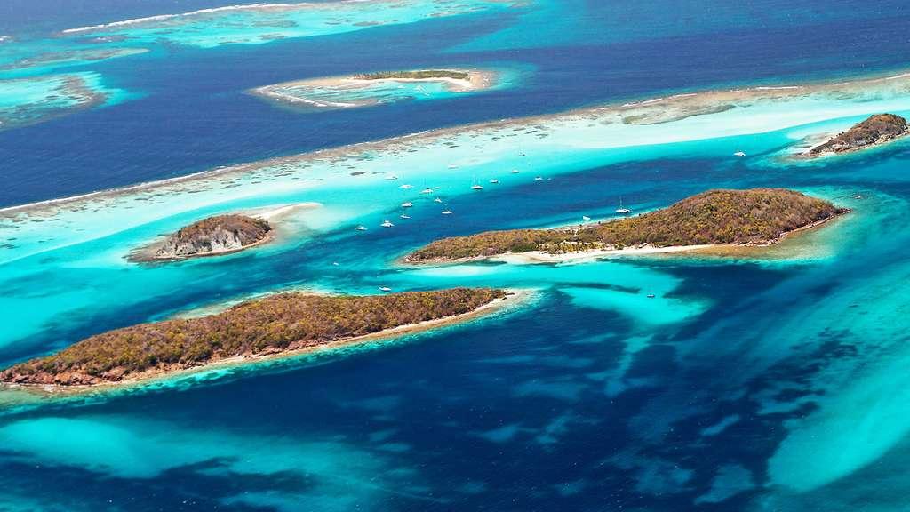 Dans les Tobago Cays, un îlot solitaire, World's End Reef. © Antoine, tous droits réservés, reproduction interdite