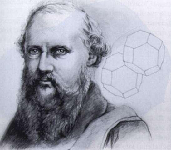 Lord Kelvin avec une représentation de deux cellules de Kelvin. © Denis Weaire