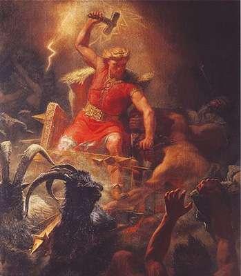 Thor et son célèbre marteau de la foudre. © DP
