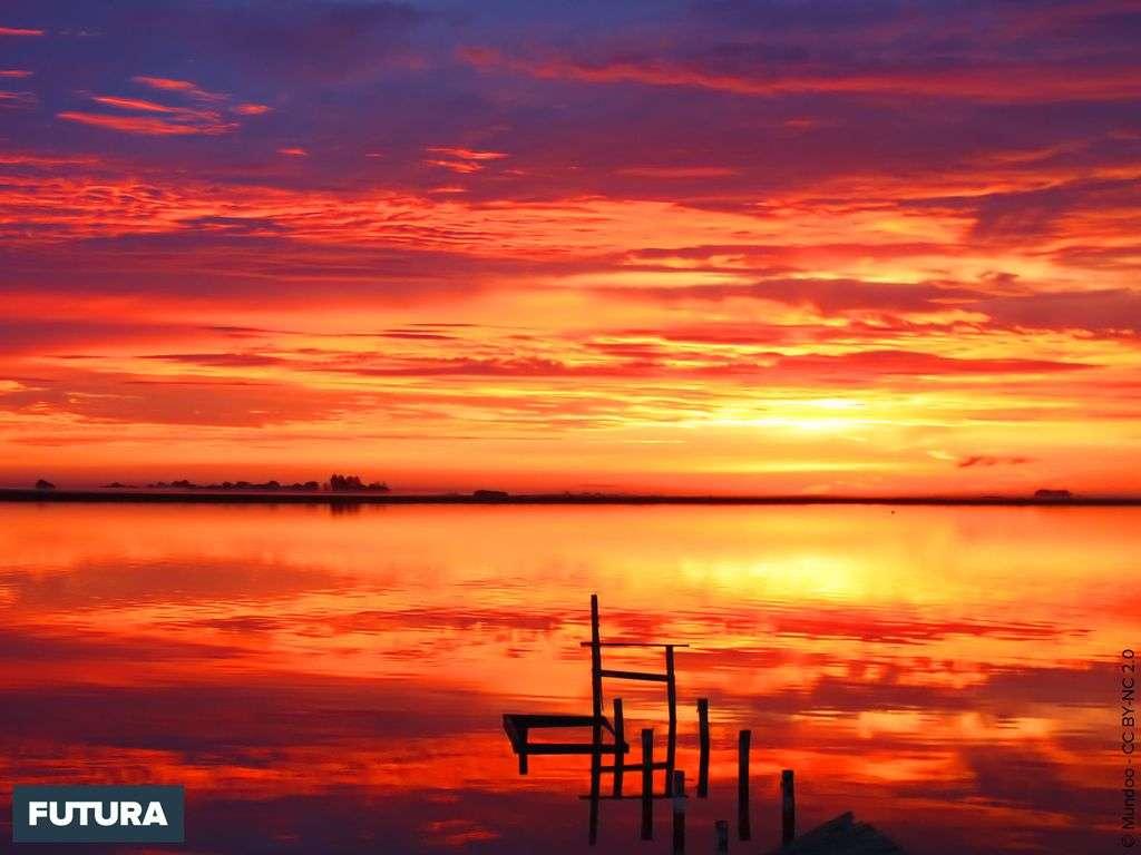 Coucher de soleil sur Hindmarsh Island - Australie