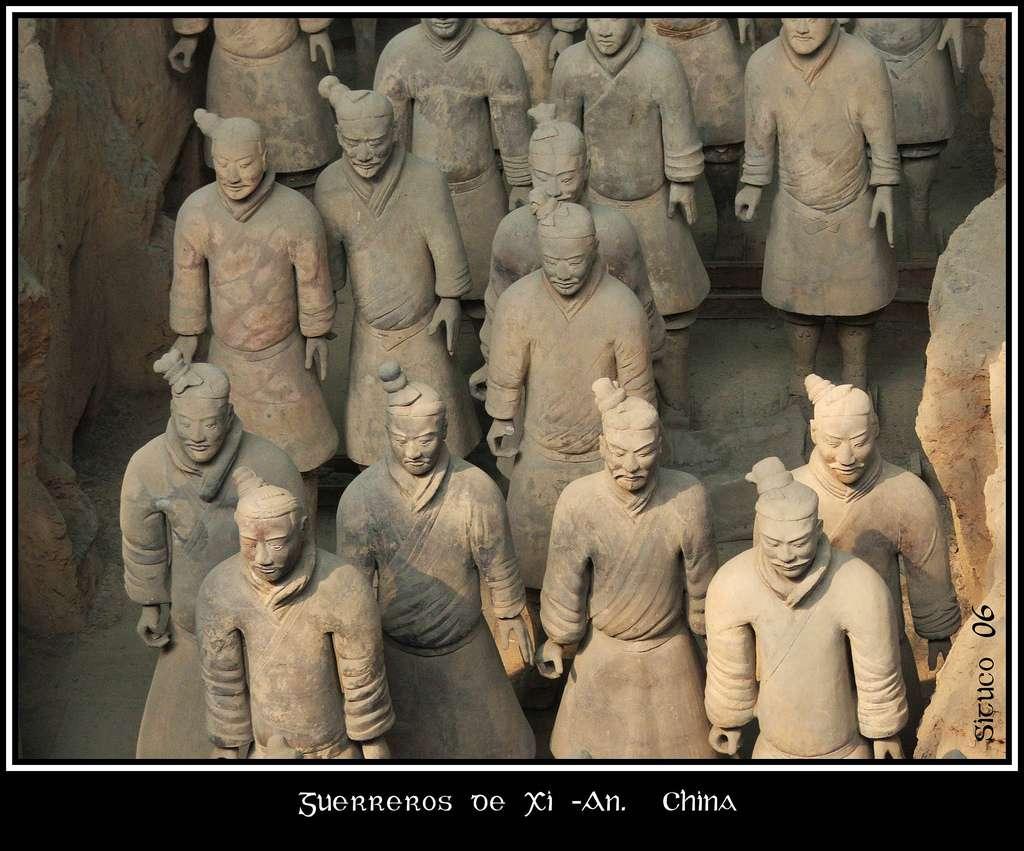 Le mausolée de l'empereur Qin, près de Xi'an