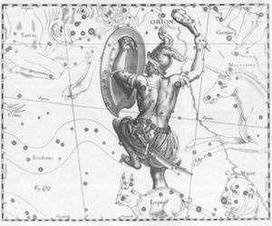 Orion dans la mythologie.