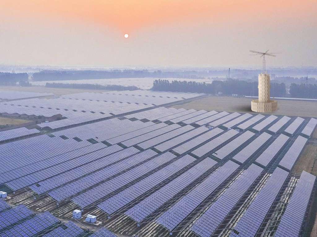 Les unités de stockage sont destinées à être implantées à côté des fermes éoliennes ou solaires pour assurer une production électrique 24h/24. © Energy Vault