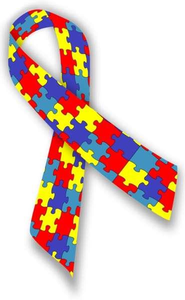 Le ruban à base de pièces de puzzle colorées est le symbole de l'autisme. © Melesse, Wikipédia, CC by-sa 3.0