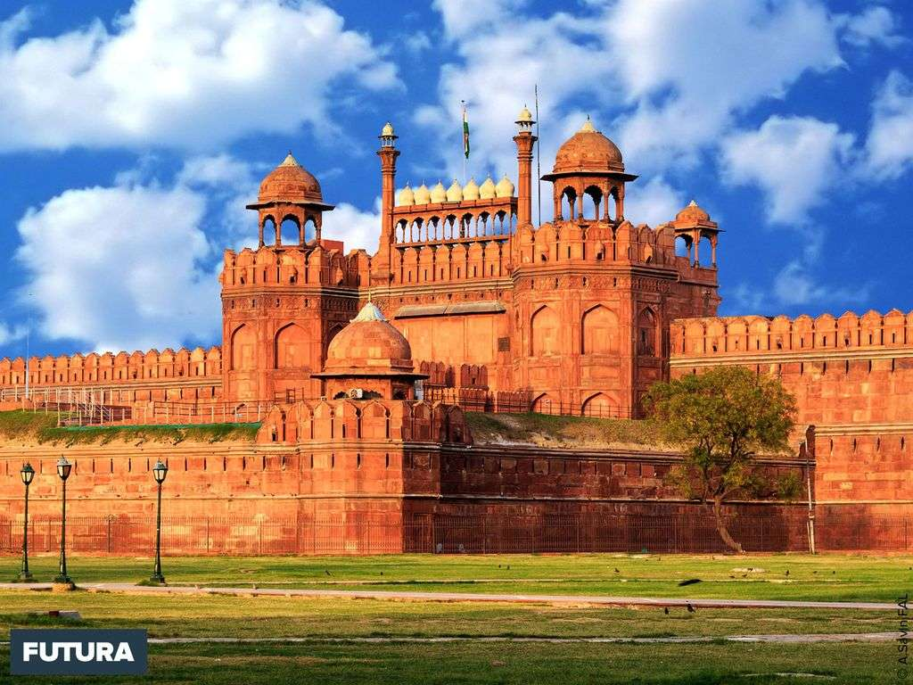 Le Fort rouge, forteresse d'architecture moghole de Delhi, Inde
